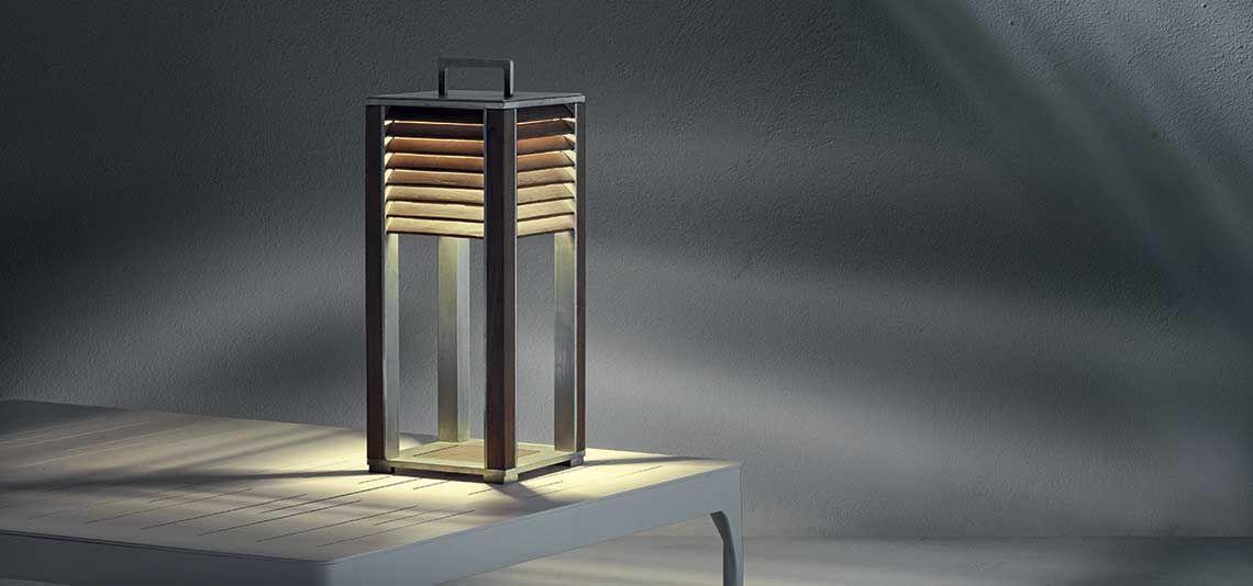 Tavoli Luminosi Da Esterno.Illuminazione Da Giardino Per Esterni E Lampade Da Terra Ethimo Shop