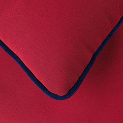 Acrilico Red Navajo + Velvet Blue Piping