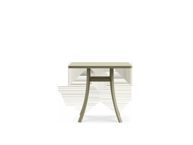 Tavolo quadrato 80x80 cm in acciaio da giardino tavoli for Tavolo esterno 80x80