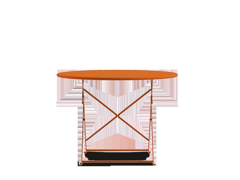 Tavolo rotondo da giardino 105cm in metallo tavoli da for Tavolo rotondo esterno