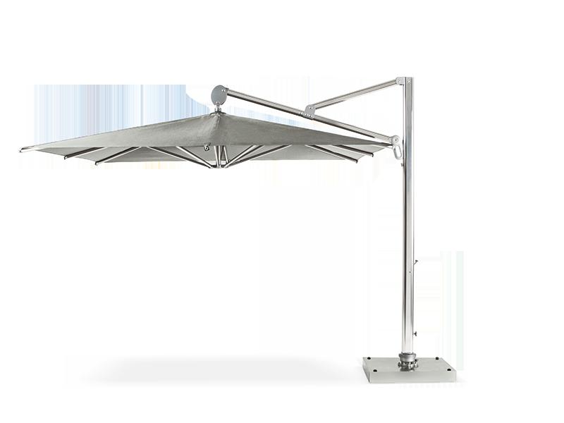 Ombrellone quadrato 3x3 a braccio laterale ombrelloni da for Recambio tela parasol 3x3