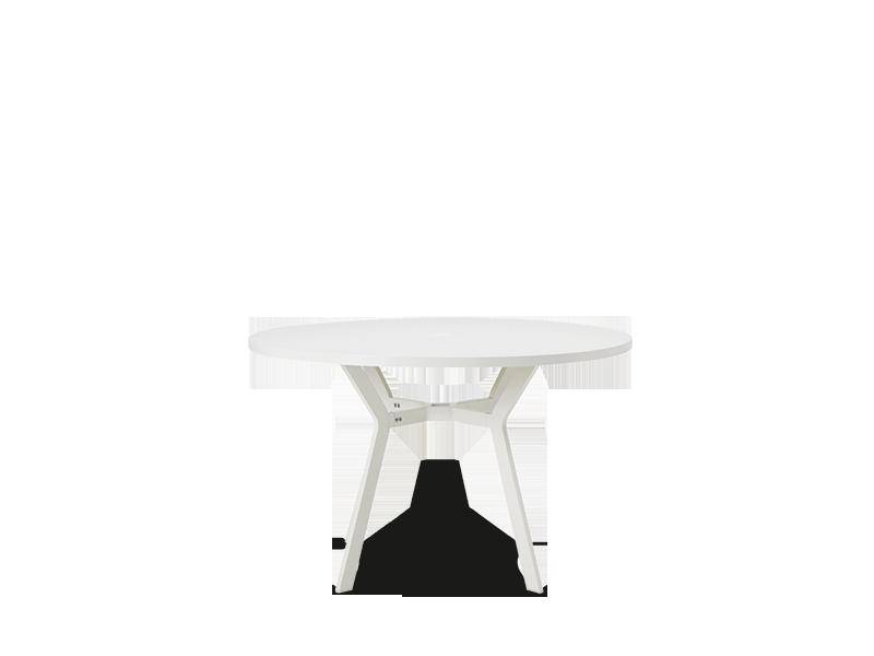 Tavolo rotondo in alluminio con foro centrale per - Tavoli in alluminio per esterni ...