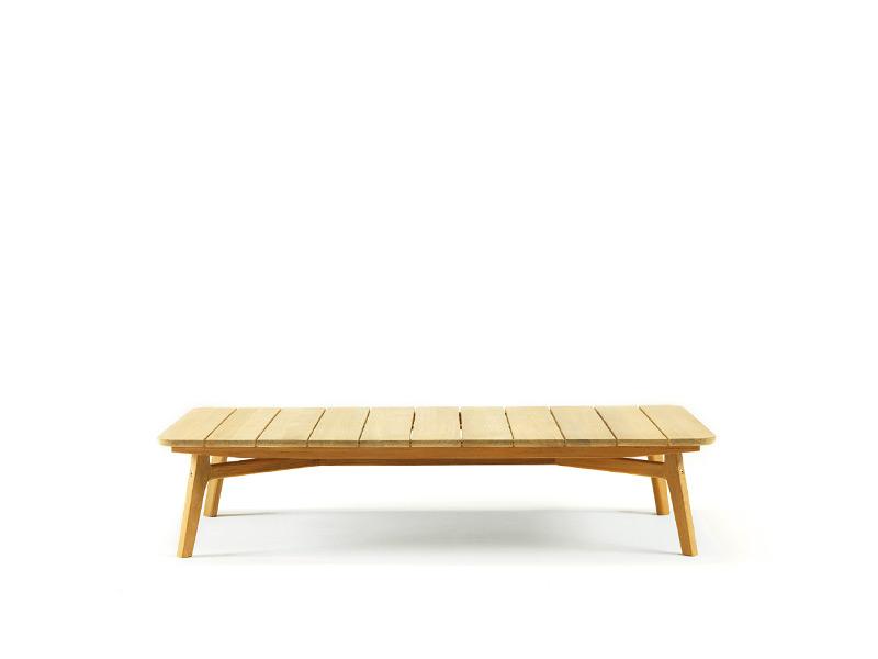 Tavolino basso per esterni in teak naturale o mogano nero for Tavolini da esterno