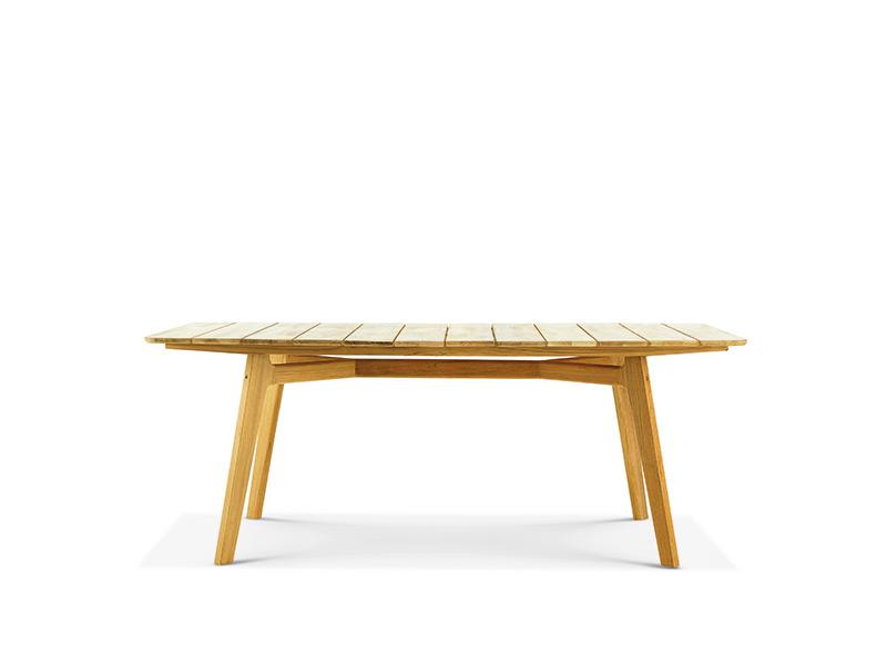 Tavolo rettangolare per esterni in mogano o teak naturale for Tavoli e divani per esterni