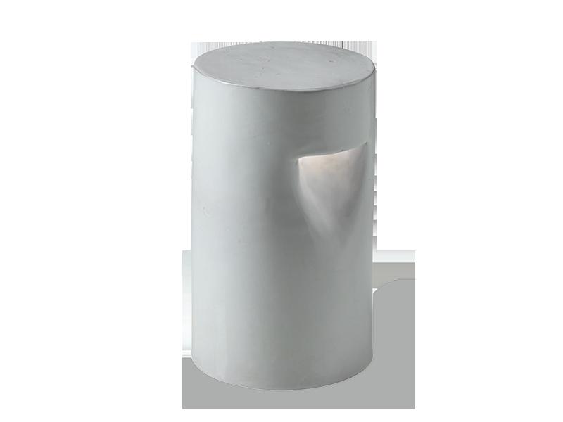 Lampada segnapasso cilindrica in terracotta illuminazione da