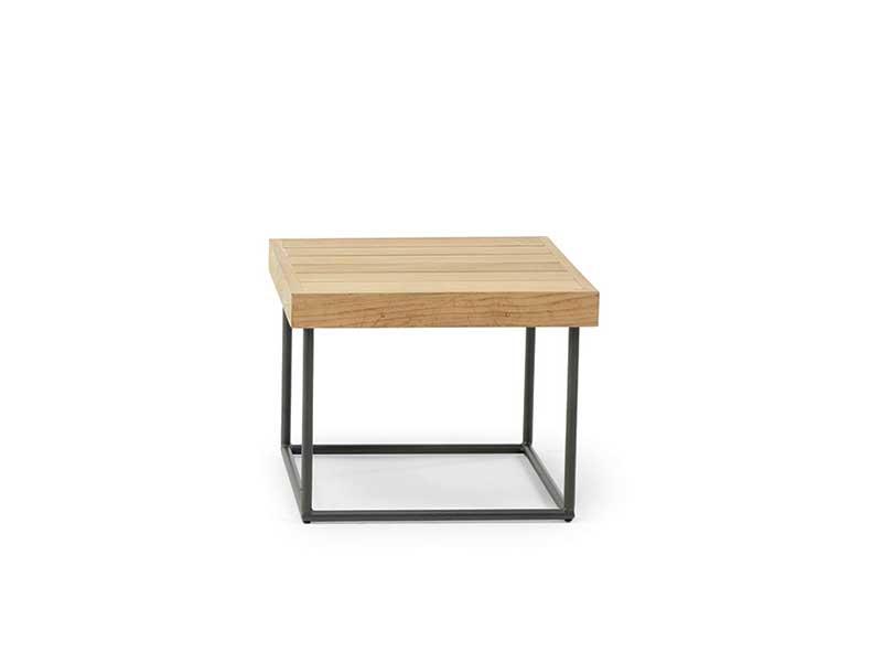 Ethimo Allaperto Mountain / <small>Tartan</small> tavolino da giardino quadrato