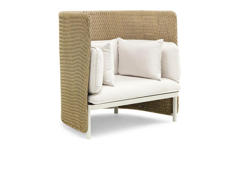 Poltrona lounge con schienale alto in Natwick e alluminio | Sedie e ...