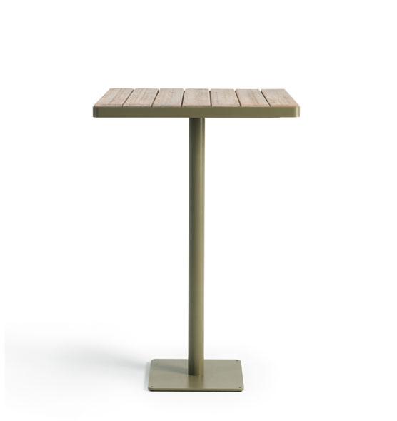 Laren – Tavolo alto 70x70 - Tavolo alto con piano in teak Ethimo
