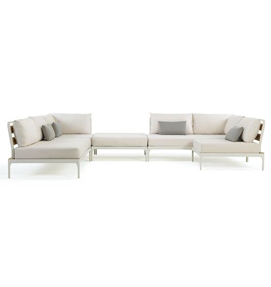 Modulo centrale per divano componibile Meridien - Elemento modulare centrale per divano da giardino Ethimo