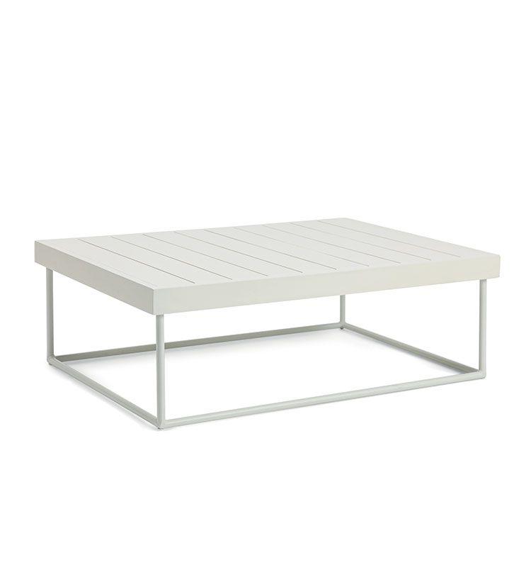 Allaperto Camping chic – Tavolo basso rettangolare - Tavolino 100x70 in mogano e metallo Ethimo