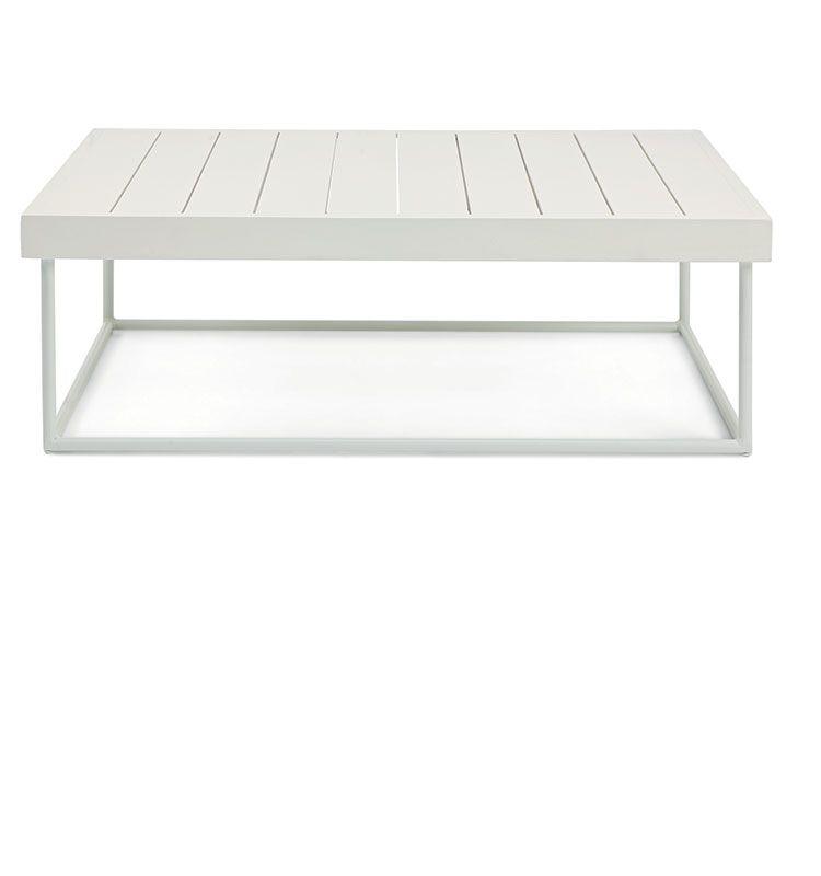 Allaperto Grand Hotel / <small>Etwick</small> – Coffee table rettangolare - Tavolino basso 100x70 Ethimo