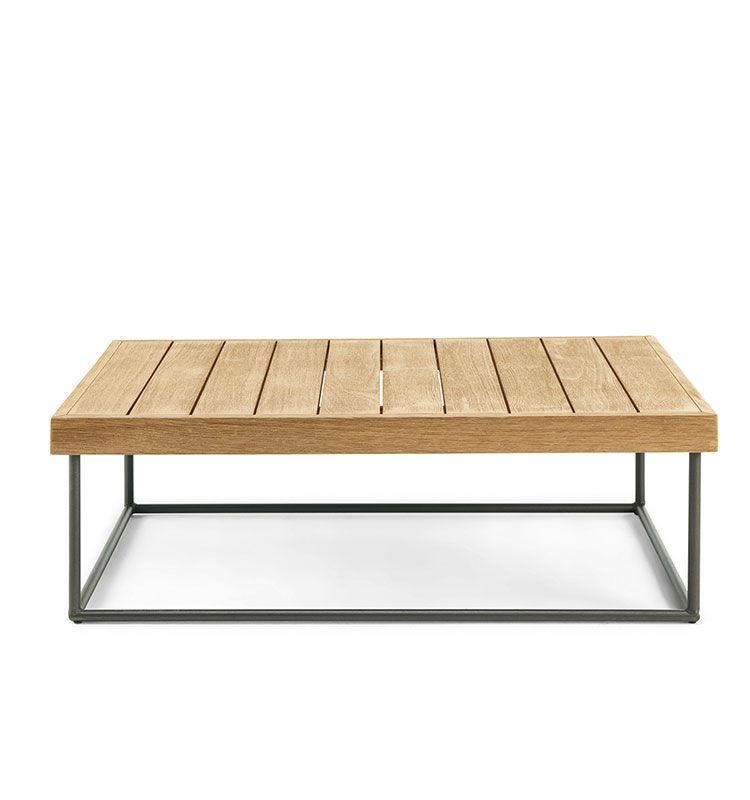 Allaperto Veranda - Tavolo basso rettangolare 100x70 - Tavolino in teak 100x70 Ethimo