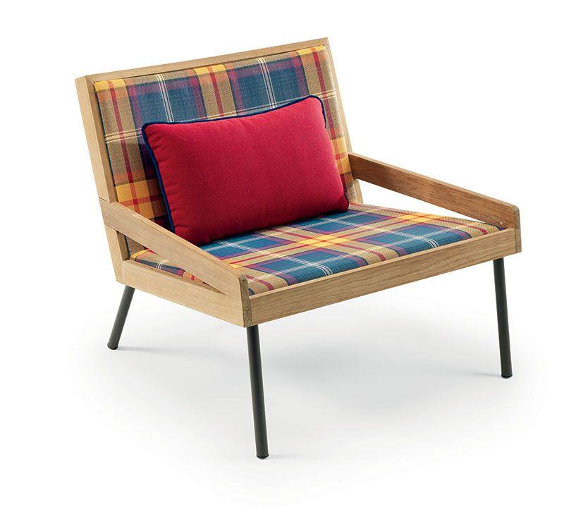 Allaperto Mountain / <small>Tartan</small> – Lounge armchair - Poltrona lounge Ethimo