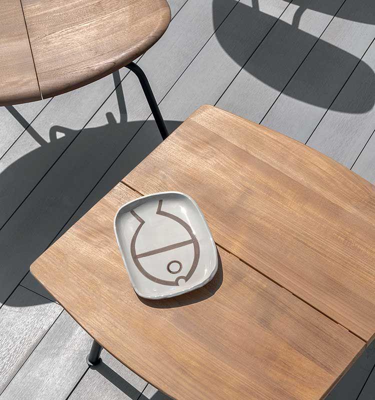 Agave – Tavolo basso quadrato - Tavolino per esterno Ethimo