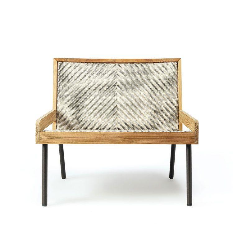 Allaperto Nautic - Poltrona lounge - Poltrona in teak e metallo Ethimo