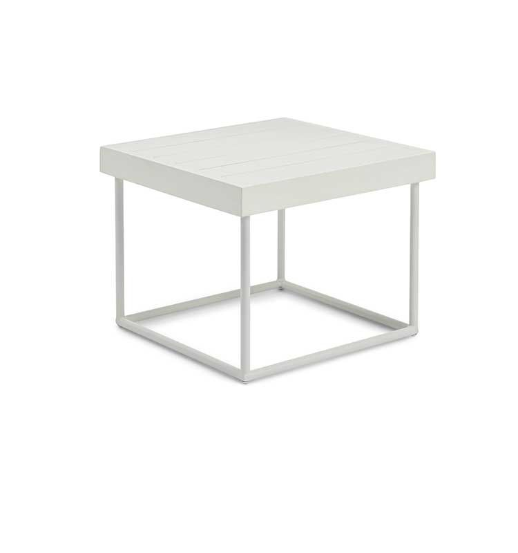Allaperto Camping chic – Coffee table quadrato - Tavolino 50x50 in mogano e metallo Ethimo