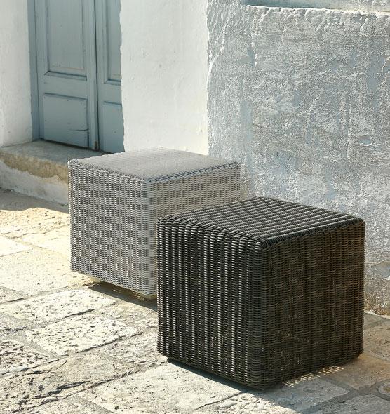 Poggiapiedi collezione Cube - poggiapiedi Ethimo