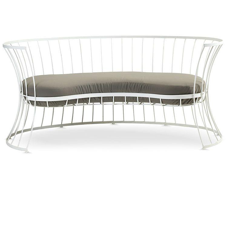 Divano a due posti in alluminio poltrone e divani da giardino ethimo shop - Divano per esterni ...
