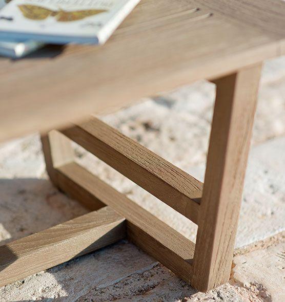 Tavolino basso da giardino in teak naturale decapato o in for Tavolo cucina 60 x 100