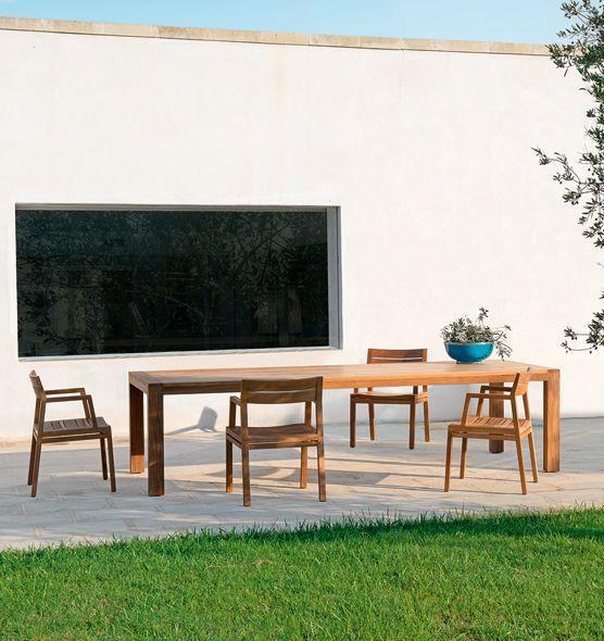 Costes – Tavolo in teak - tavolo da giardino in teak 300x110cm Ethimo