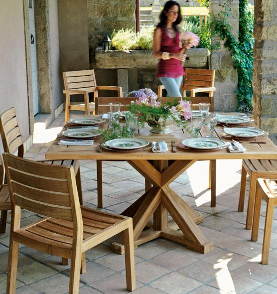 Cronos – Tavolo in teak - tavolo quadrato in teak Ethimo