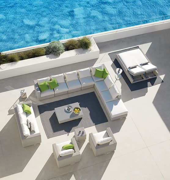 Cube – Modulo centrale - Modulo centrale per divano modulare Ethimo