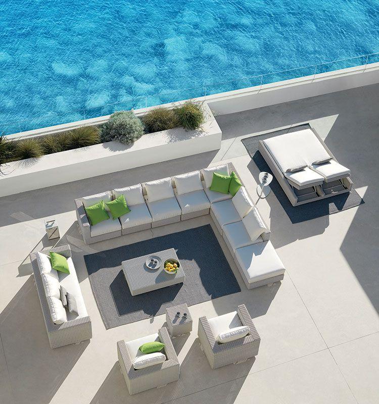 Cube – Divano 3 posti - divano da giardino in fibra Etwick Ethimo