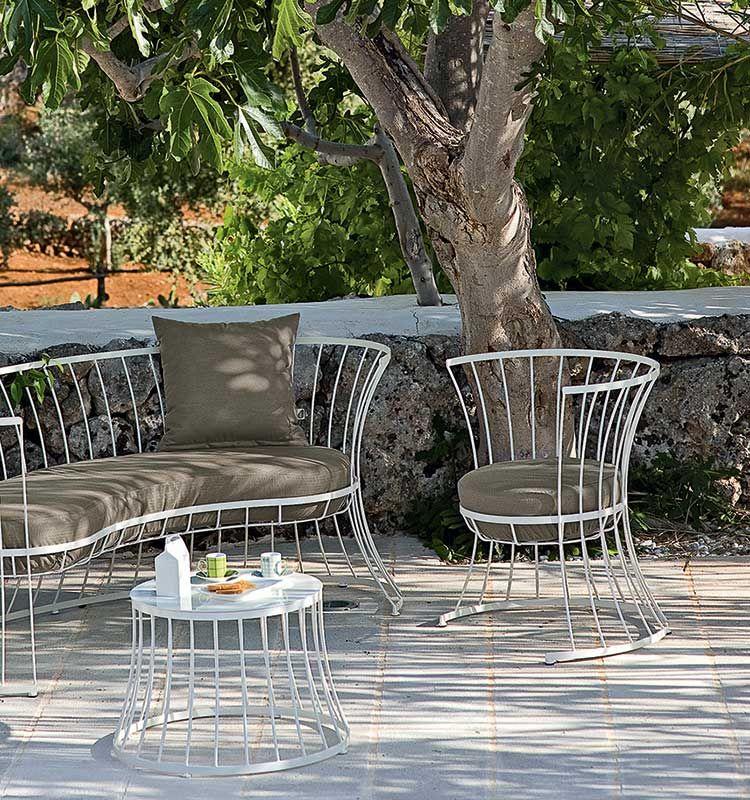 Clessidra – Divano 2 posti - Divano da giardino in alluminio Ethimo