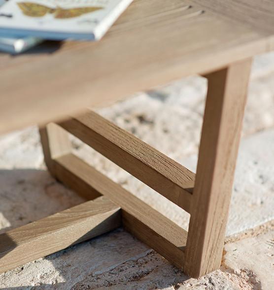 Costes – Tavolino 120x80 cm - Tavolino da giardino rettangolare in teak Ethimo