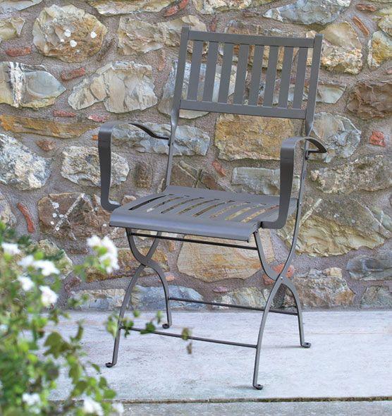 Elisir – Poltroncina pieghevole - Poltroncina da giardino in metallo Ethimo