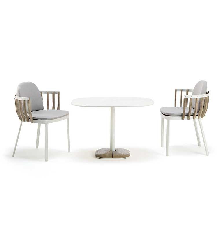 Enjoy – Tavolo dining lounge 70x70 h 61 - Tavolo in pietra ceramica Ethimo