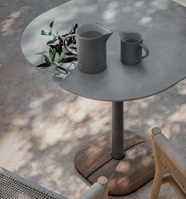 Enjoy – Tavolo 70x70 h 75 - Tavolo dining in pietra ceramica Ethimo
