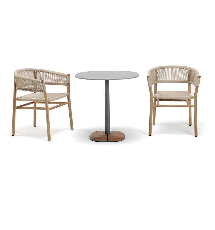 Enjoy – Tavolo dining 90x70 h 75 - Tavolo in pietra ceramica Ethimo