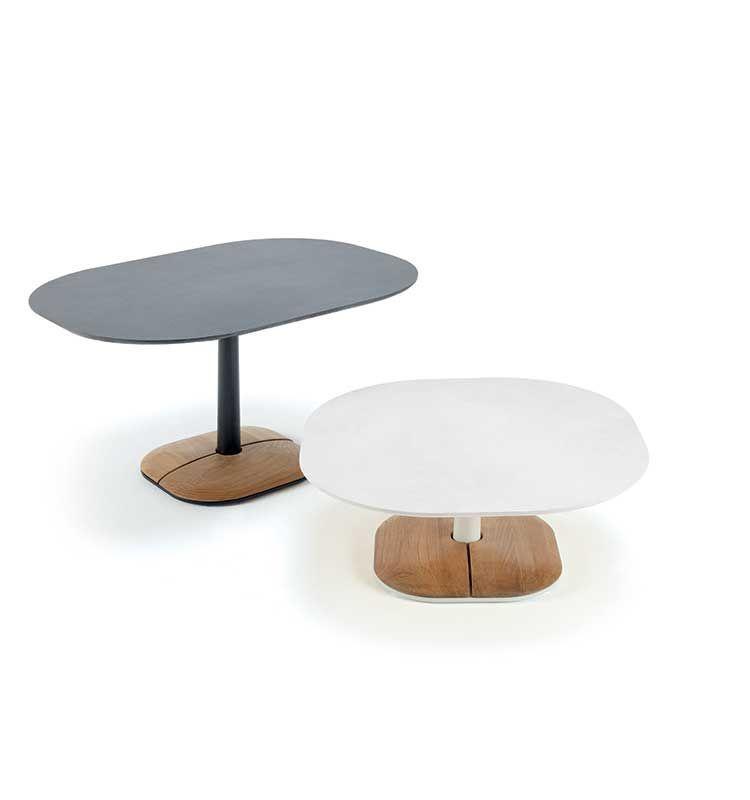 Enjoy – Tavolo basso 90x70 h 29 - Tavolino in pietra ceramica Ethimo