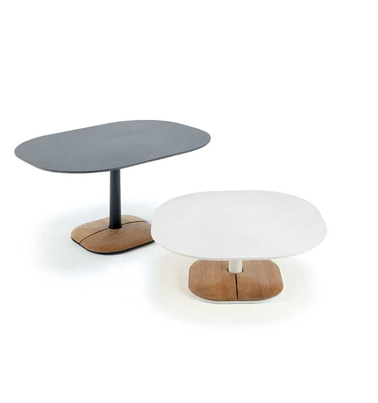 Enjoy – Tavolo basso 70x70 h 29 - Tavolino in pietra ceramica Ethimo