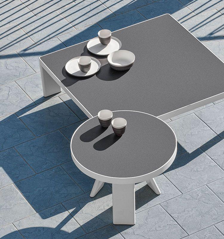 Esedra – Tavolo basso Ø 56cm - tavolino basso da giardino in teak Ethimo