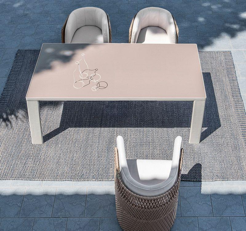 Esedra – Tavolo dining 200x99 - Tavolo dining rettangolare Ethimo