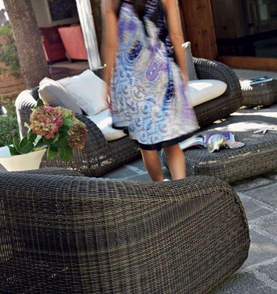 Poltrona per outdoor Phorma - Poltrona per esterni con cuscino Ethimo
