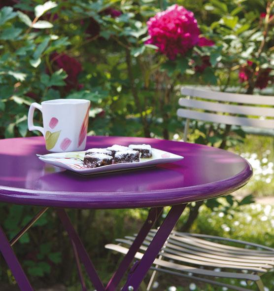 Flower – Tavolo rotondo - tavolo da giardino pieghevole Ethimo