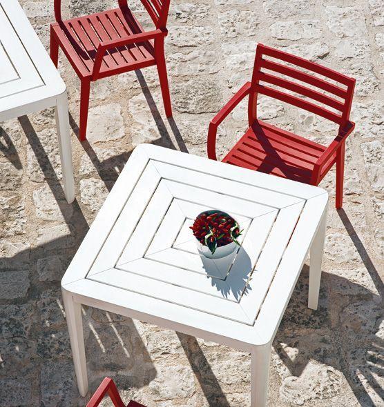 Friends - Tavolo quadrato - Tavolo dining 90x90 da esterno Ethimo