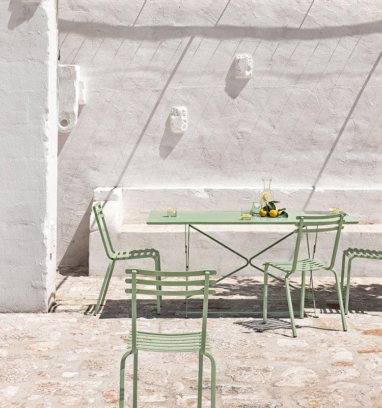 Tavolo Giardino Ferro Pieghevole.Tavolo Rettangolare In Metallo Pieghevole 160x80 Tavoli Da