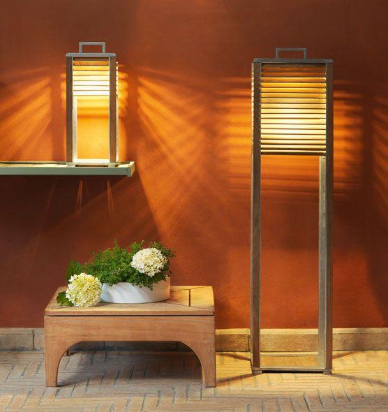 Ginger – Lampada da muro - Applique in alluminio e teak Ethimo