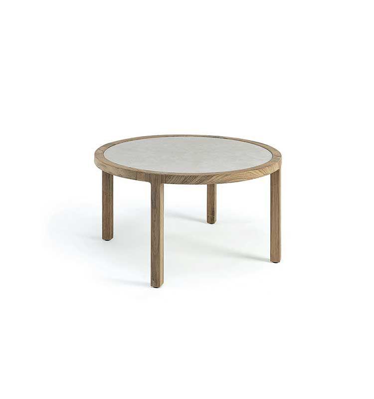 Grand life – Tavolo basso Ø 77 - Tavolo basso con piano in pietra ceramica Ethimo