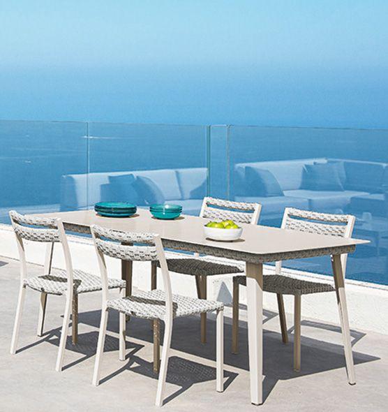 Infinity – Tavolo rettangolare da esterni - Tavolo da giardino in alluminio Ethimo