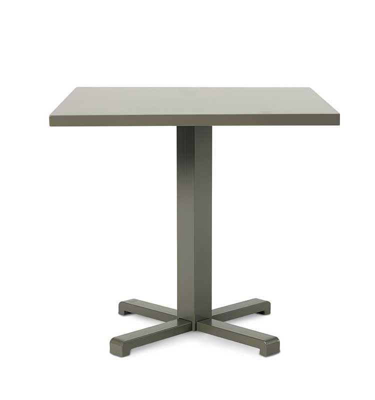 Infinity – Tavolo da giardino - Tavolo 80x80 cm in alluminio e fibra Ethimo