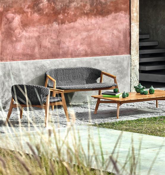 Knit – Divano - Divano da giardino a 2 posti Ethimo