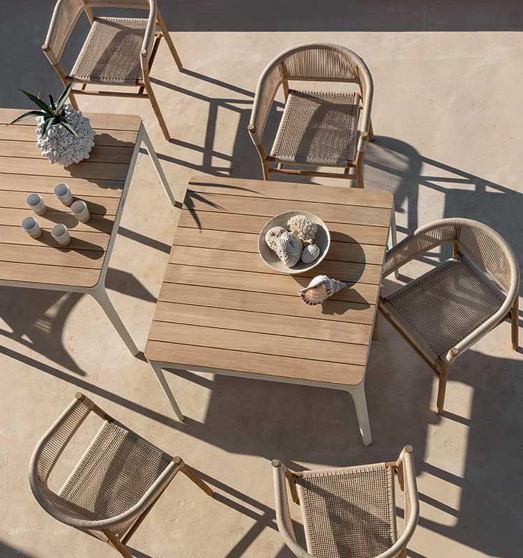 Kilt – Poltroncina dining - Poltroncina da giardino in teak Ethimo