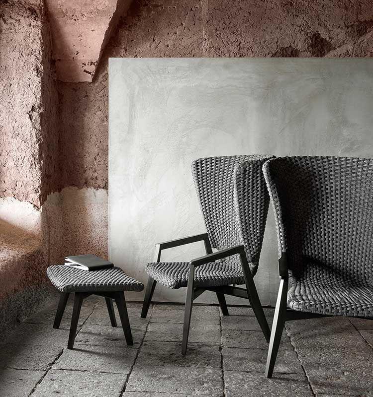 Knit - Poltrona lounge highback (fine serie) - Poltrona da giardino con schienale alto Ethimo