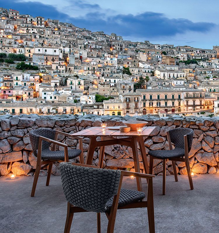Knit – Tavolo dining quadrato - Tavolo da giardino in teak Ethimo