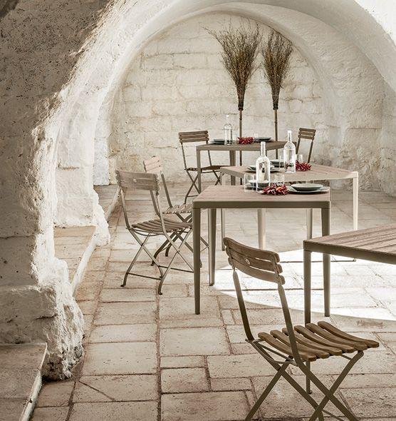 Tavolo quadrato Laren per giardino - Tavolo da esterni 90x90cm Ethimo